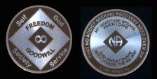 Narcotics Anonymous Infinity Laser Etched Coin