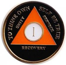 Orange Black Medallion
