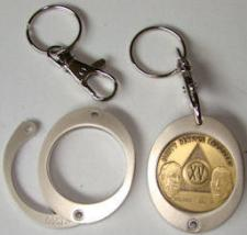 Aa medallion keychain holder