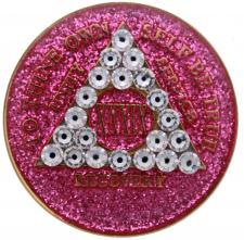 Pink Bling Tri-Plate Medallion