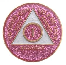 AA Purple Sparkle Medallion