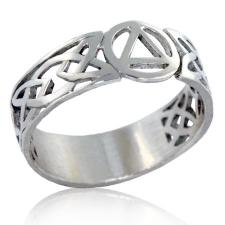 Sterling Silver Celtic AA Unity Ring