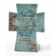 Serenity Prayer Resin Tabletop Cross 4