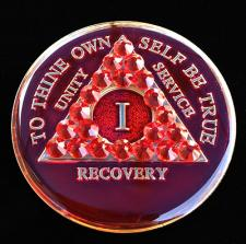 Ruby Red Bling Tri-Plate Medallion