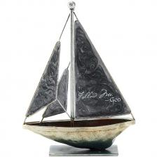 Mini Metal Tabletop Sailboat