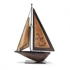 Metal Tabletop Sailboat