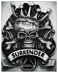 SurrenderSkullLapelPin