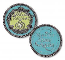 Sisters in Recovery Turquoise Medallion