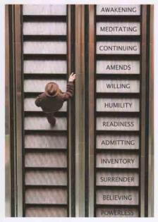 The 12 Steps Greeting Card