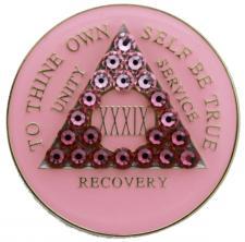 Red Bling Tri-Plate Medallion
