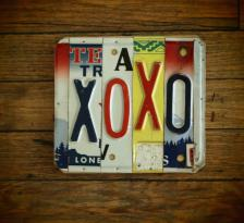 XOXO License Plate Wall Plaque