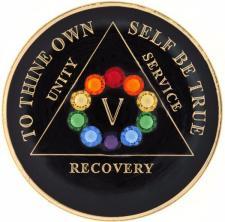 Swarovski LGBT Circle Bling Black Medallion