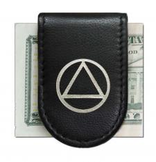 AA Black with Silver Magnetic Money Clip