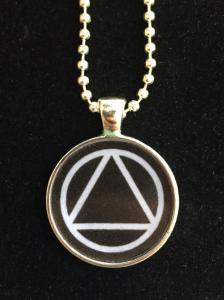 AA Unity Symbol Resin Necklace Black