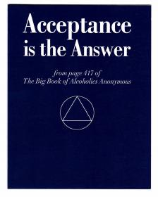 Acceptance is the Answer