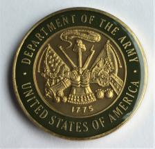 UNITED STATES ARMY - Enamel Recovery Medallion