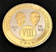 Bi-Plated Bill and Bob AA Medallion