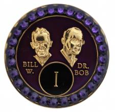 Crystallized Bill and Bob Purple