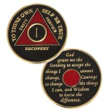 AA Medallion Black/Red