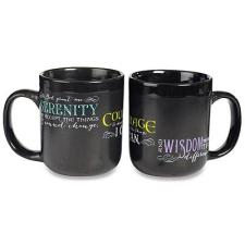 Black Serenity Prayer Mug