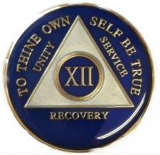 Blue Triplate Medallion