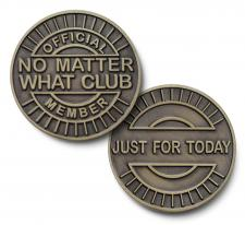 Just for Today no Matter What Club Bronze Medallion