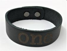Leather Black One Bracelet