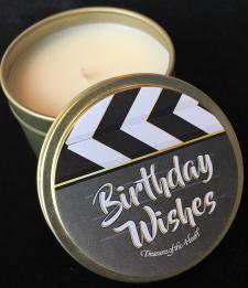 Clapperboard Birthday Wishes Soy Candle