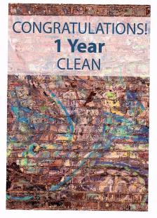 Congratulations! Years Clean Card