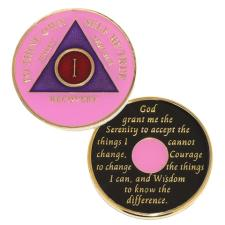AA Recovery Medallion Pink/Purple