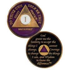 AA Medallions Purple/Gold