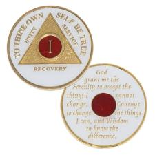 AA Recovery Medallion White/Red