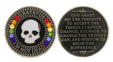 Grateful I'm Not Dead Rainbow Swarovski Crystal Medallion