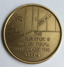 The Elevator Is Broken Bronze Medallion