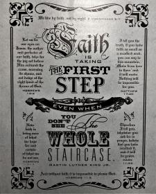 Faith is Taking the First Step Wooden Plaque