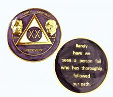 AA Founders Purple Swirl Medallion