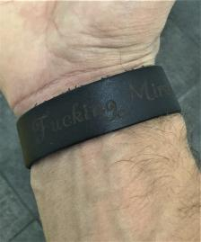 Leather Fucking Miracle Bracelet Black w/ Beads