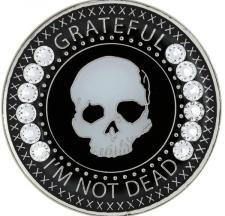 Grateful I'm Not Dead Swarovski Diamond Medallion