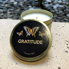 Gratitude 3 Butterfly Candle