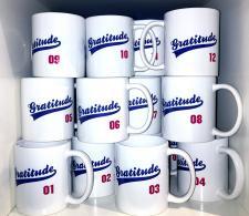 Gratitude Sports Themed Mug