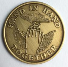 Hand In Hand Bronze Medallion