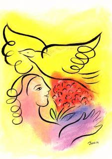 Let Go, Let God! Greeting Card