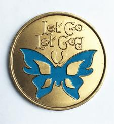Let Go Let God Butterfly Medallion