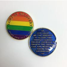LGBT In Recovery Medallion