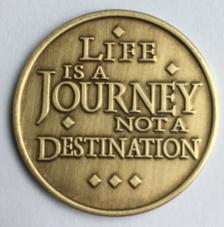 Life Is A Journey Bronze Medallion