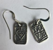 Love Dog Tag Earrings