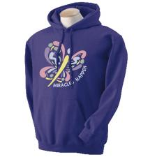 Miracles Happen Purple Hoodie