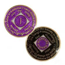 NA Medallion Glitter Lavender Coin