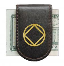 NA Brown with Gold Magnetic Money Clip