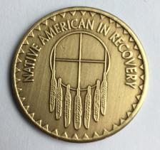Native American In Recovery Bronze Medallion